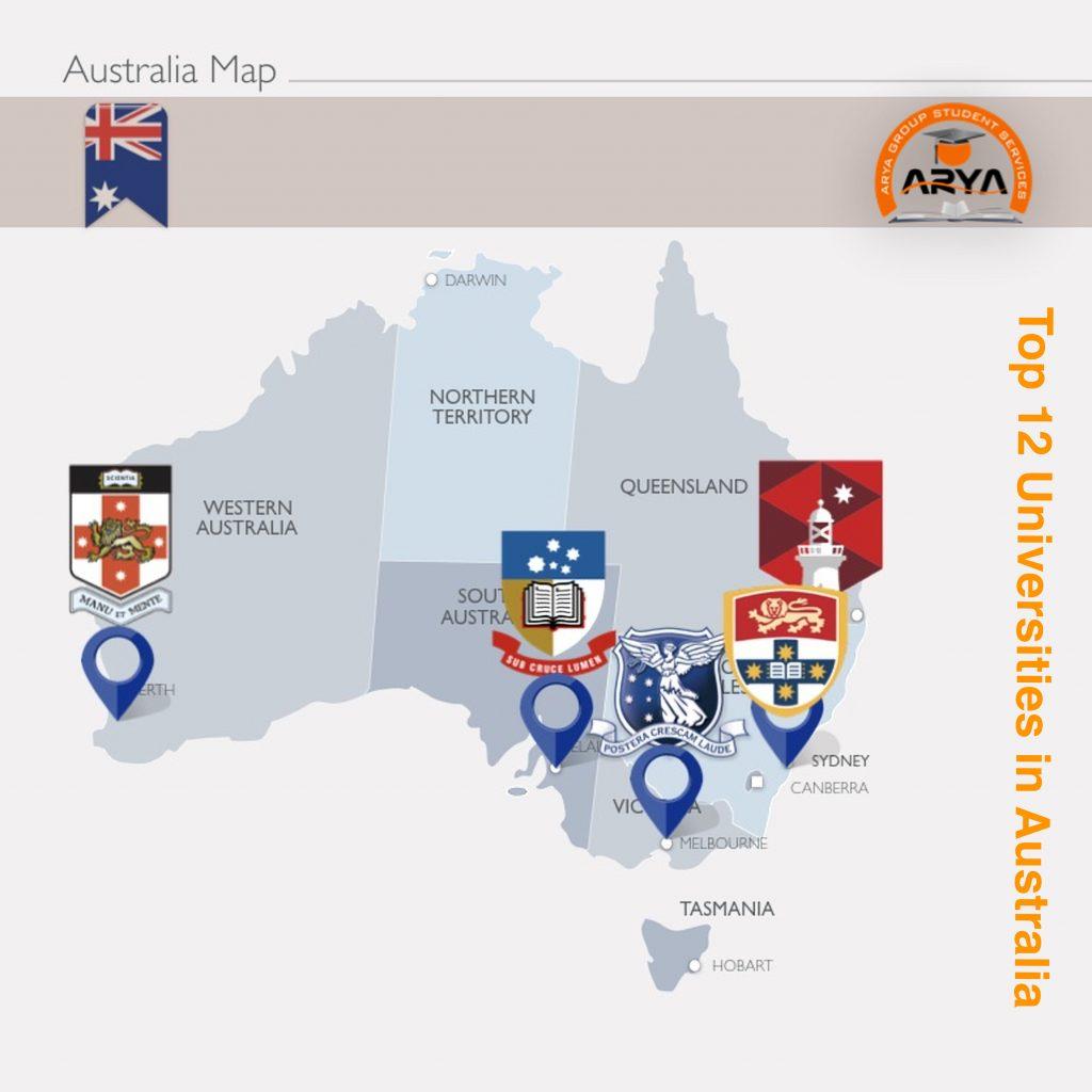 برترین دانشگاه های استرالیا در سال 2019
