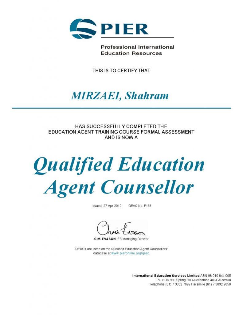 مجوز-مشاوره-تحصیلی-از-انجمن-رسمی-مشاوران-تحصیلی-استرالیا