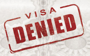 Visa Denied note