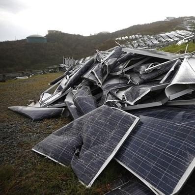 زباله های پنل های خورشیدی