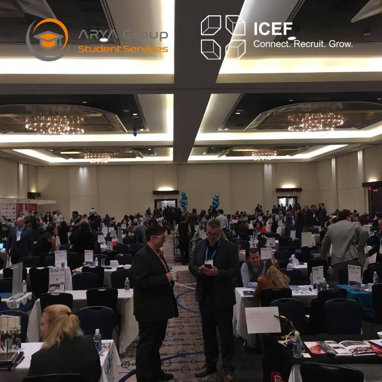 حضور مدیریت مؤسسه آریا در همایش بینالمللی اعزام دانشجو به کانادا (ICEF)